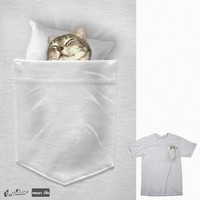 CAT SLEEPING IN MY POCKET on Threadless