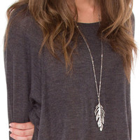 Fly Up High Necklace - Silver