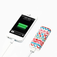Aztec Ethnic Stripes Portable Power Bank Charger for iPhone and Samsung - power bank