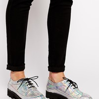 ASOS MISSILE LAUNCH Chunky Lace Up Brogue at asos.com