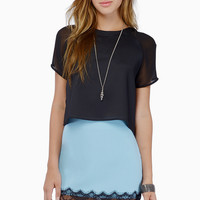 Sheer Touch Crop Top $38