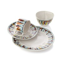 Gallery 16-Piece Dinnerware Set: four 4-piece place settings.