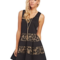 Lacey Stripes Keyhole Back Dress | Wet Seal