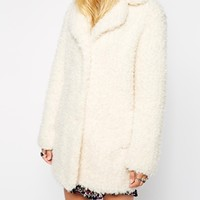 Pepe Jeans Faux Fluffy Coat