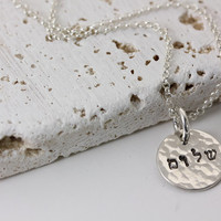 Hebrew - Shalom - Peace Necklace - Personalized Hand Stamped Jewelry - Sterling Silver Christina Guenther