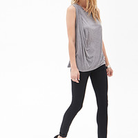 Draped Heathered Tank