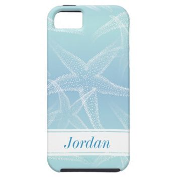 Starfish Blue Personalized Beach iPhone 6 Case