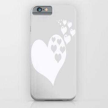 Gray White Hearts of Love iPhone & iPod Case by BeautifulHomes