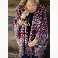 Sycamore Burgundy Sweater Cardigan