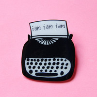 Sylvia Plath Typewriter Brooch