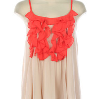 New Tie Back Ruffles Babydoll chiffon Chic Tank