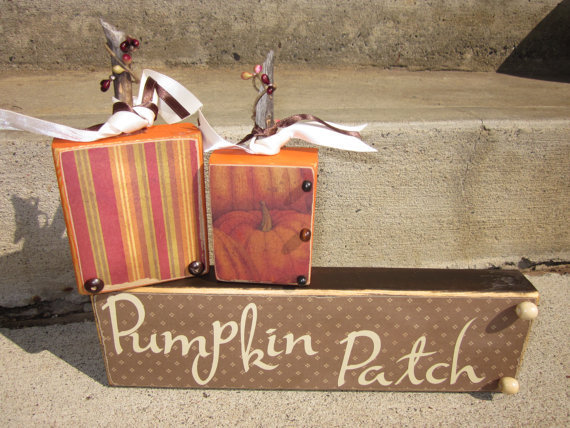 Pumpkin Patch wooden block sayings for from FayesAttic11