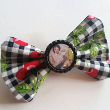 Pinup Girl Cherry Hair Bow