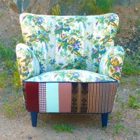 Mid Century Birdie Patchwork Chair by Vintage Renewal | Vintage Renewal