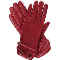 MAX MARA - Leather and suede contrast gloves | Selfridges.com