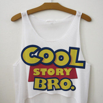 Cool Story Bro Crop Top | fresh-tops.com
