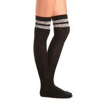Marled Stripe Over-the-Knee Socks by Charlotte Russe