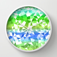 Quarry Ocean Wall Clock by Lisa Argyropoulos