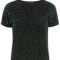 Green Abstract Burnout Tee