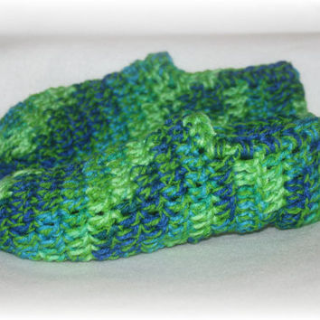 Tie Dye Lime and Blue Slippers- Michigan Made