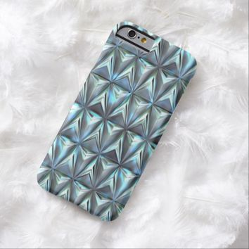 Pastel Turquoise Blue Purple Abstract Geometric Triangle Shapes Pattern iPhone 6 Case