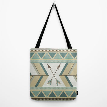 Aztec Pattern Arrows Tote Bag by LouJah