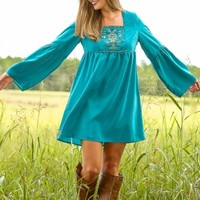 Tomorrow Is A New Day Dress-Teal