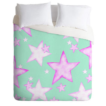 Monika Strigel  *** All My Stars Will Shine For You  *** Mint Pink Duvet Cover for your perfect room!