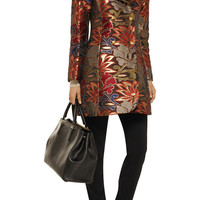 Alice + Olivia Analise metallic printed jacquard coat – 55% at THE OUTNET.COM