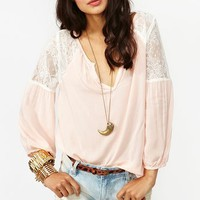 Jardin Lace Blouse - Blush
