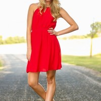 Just Go With It Dress-Aurora Red