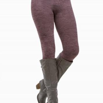 SPACE-DYE FLEECE LEGGINGS