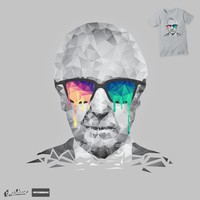 Albert Hofmann - Psychedelic Polygon Portrait on Threadless