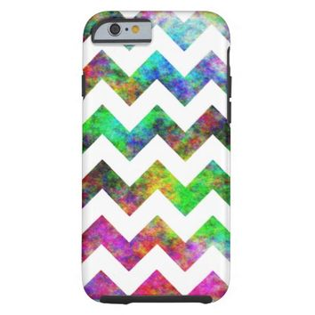 Rainbow Abstract Cloud White Chevron iPhone 6 Case