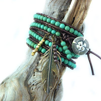 The Spirit leather wrap bracelet