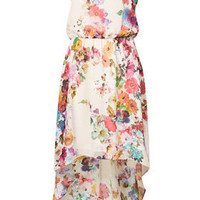 Tall Floral Dip Hem Dress - New In