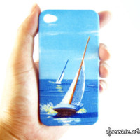 Case iPhone 4, iPhone 4 Case, iPhone Cases 4 - Sailboat,Sailing Boat