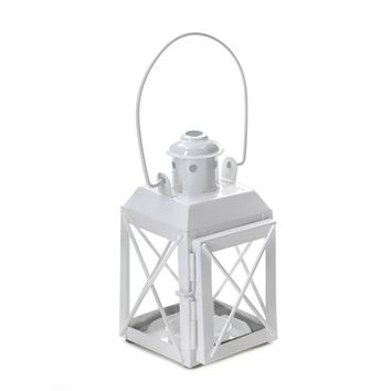 White Railway Candle Lantern Lamp