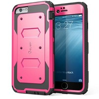 iPhone 6 Plus Case , i-Blason® [Armorbox] built-in Screen Protector **Full body** [Heavy Duty] Protection Shock Absorb Bumper Corner for Apple iPhone 6 Plus 5.5 inch (Pink)