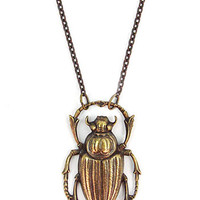 Apothecary Beetle Study Necklace