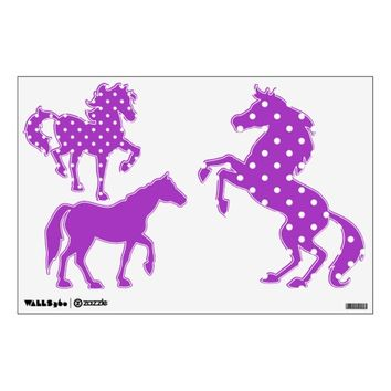 Dark Orchid Horse Wall Decals