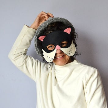 ADULT Black Cat Mask,  Animal Mask for Carnival, Halloween, Dress up Costume Party Accessory, Men, Women Mask, for Him, for Her