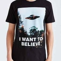The X-Files I Want To Believe Tee - Urban Outfitters