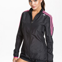 Jacket from ADIDAS PERFORMANCE - Black and pink windbreaker