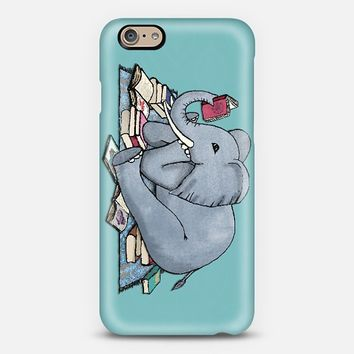 The Best Thing About Rainy Days - cute elephant with books iPhone 6 case by Micklyn Le Feuvre | Casetify