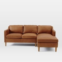 Hamilton 2-Piece Leather Chaise Sectional