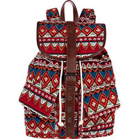 pink aztec rucksack