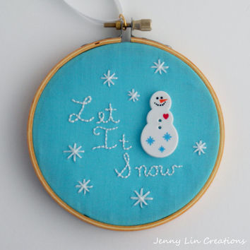 Let It Snow Snowman Christmas Ornament Holiday Decoration