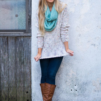 Confetti Pop Sweater, Ivory