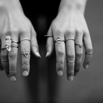 Double caged crystal ring